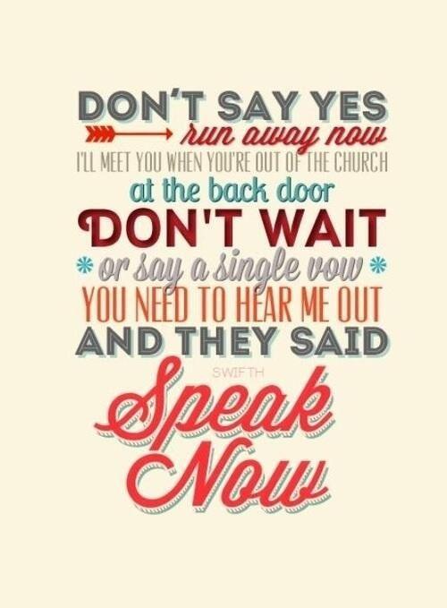 Karaoke Speak Now - Video with Lyrics - Taylor Swift