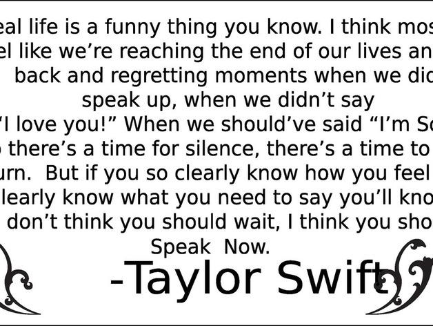 Taylor Swift - Speak Now Lyrics | MetroLyrics
