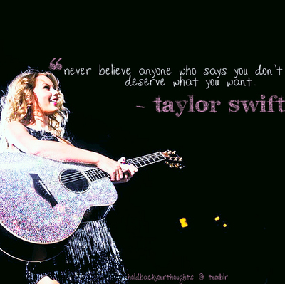 taylor swift inspirational song quotes